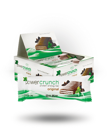Power Crunch Original Protein Energy Bar Chocolate Mint 12 x 1.4 oz Bars