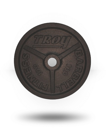 Troy Barbell Fully Machined Black Wide-Flanged Olympic Plate 100 lb