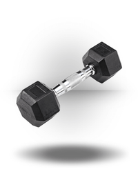 Body-Solid Rubber Coated Hex Dumbbell 8 lb