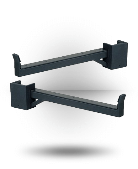 York Barbell ST Safety Spot Arms (Pair) Black