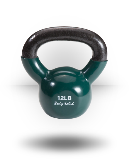 Body-Solid Vinyl Coated Kettlebell 12 lb