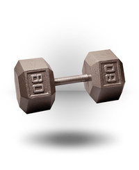 Body-Solid Hex Dumbbell 80 lb