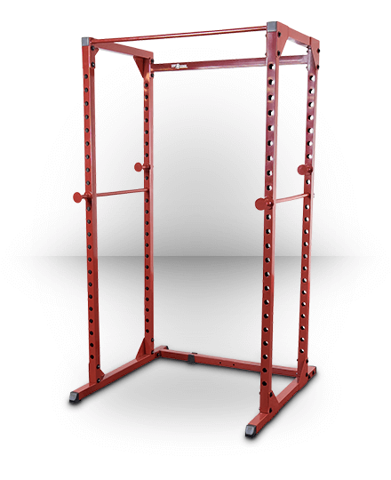 Best Fitness Power Rack Red