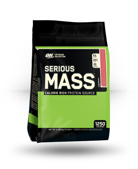 Optimum Nutrition Serious Mass Strawberry 12 lb
