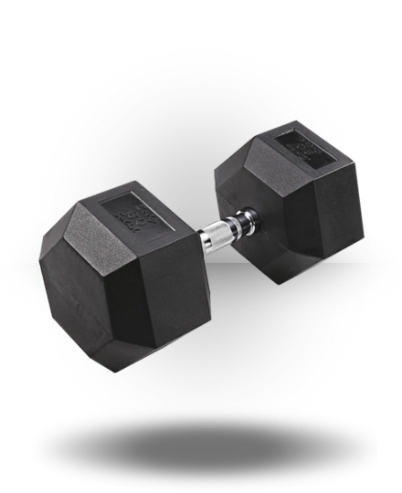 Body-Solid Rubber Coated Hex Dumbbell 80 lb