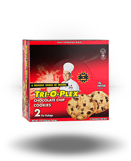 Chef Jay's Tri-O-Plex Cookies Chocolate Chip 12 ea