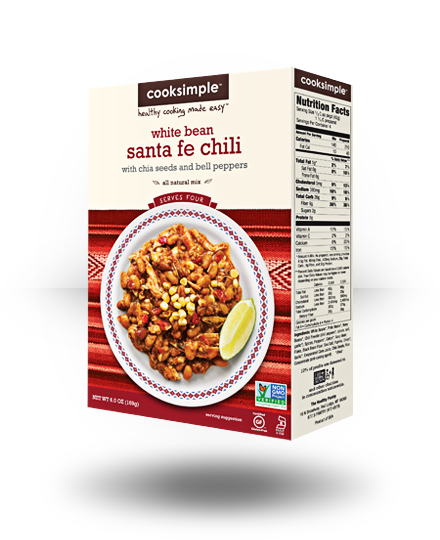 Cooksimple White Bean Santa Fe Chili