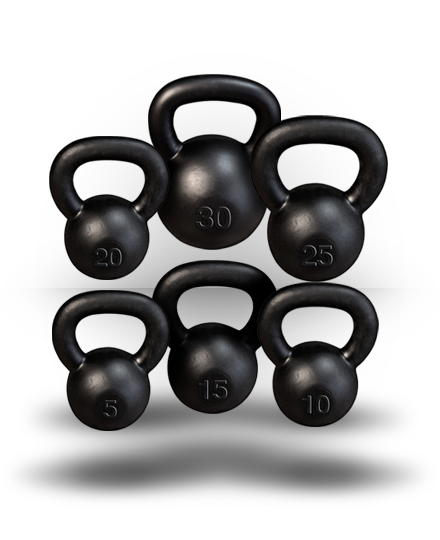 Body-Solid Kettlebell Set Singles 5-30 lb