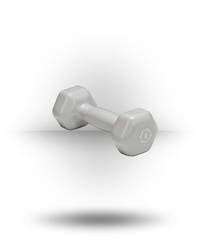 Body-Solid Vinyl Dumbbell Lt Gray 4 lb