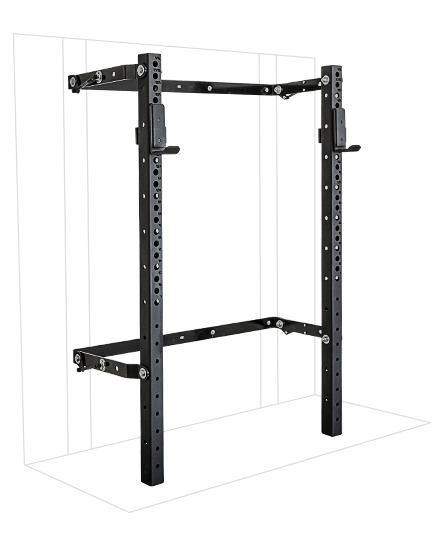 PRX Performance 3x3 Profile Squat Rack Black Oynx