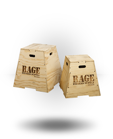 Rage Fitness Rage Wood Puzzle Plyo Box 24""