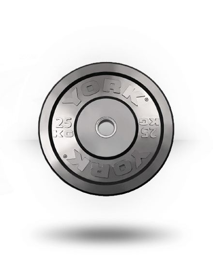 York Solid Rubber Training Bumper Plate (kg) 25 kg