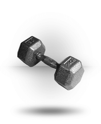 York Barbell Pro Hex Dumbbell With Cast Ergo Handle 30 lb