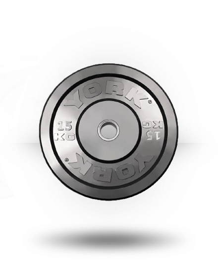 York Solid Rubber Training Bumper Plate (kg) 15 kg