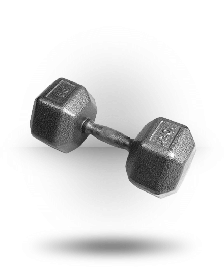 York Barbell Pro Hex Dumbbell With Cast Ergo Handle 55 lb
