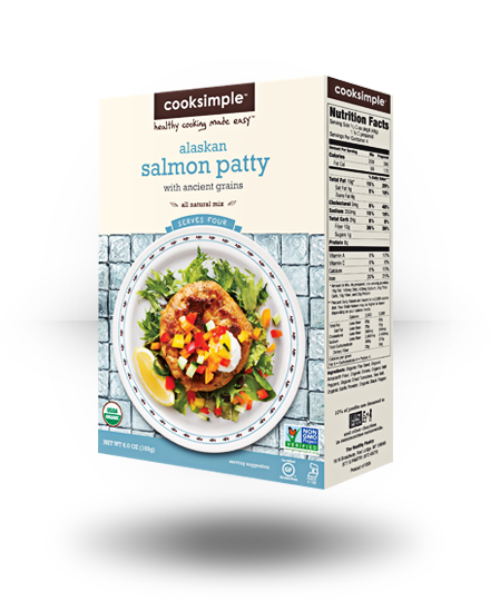 Cooksimple Alaskan Salmon Patty