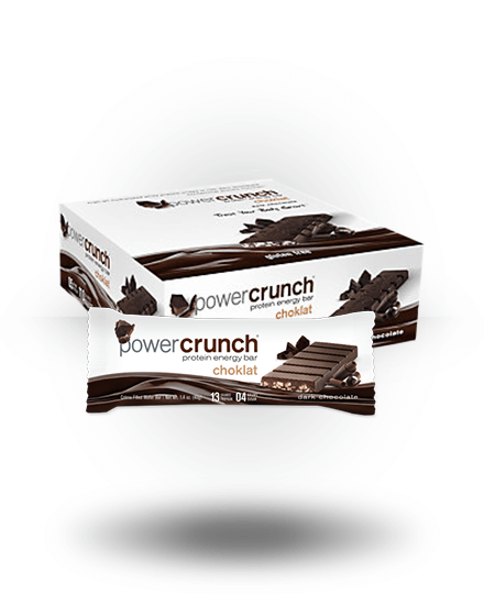 Power Crunch Choklat Protein Energy Bar Dark Chocolate 12 x 1.5 oz Bars