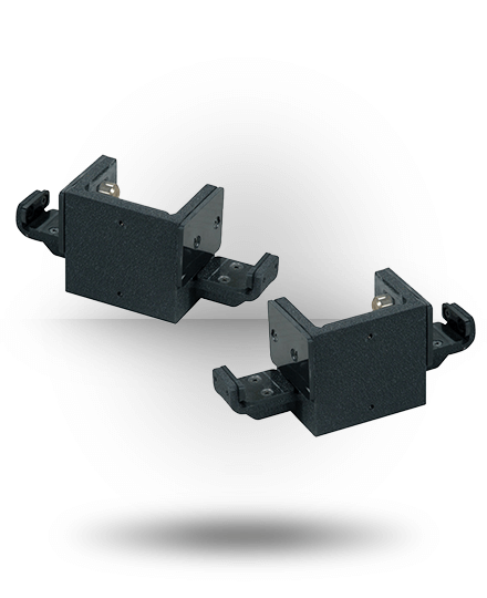 York Barbell ST Double Bar Holders (Pair) Black
