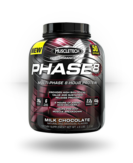 MuscleTech Phase 8 Milk Chocolate 4 lb