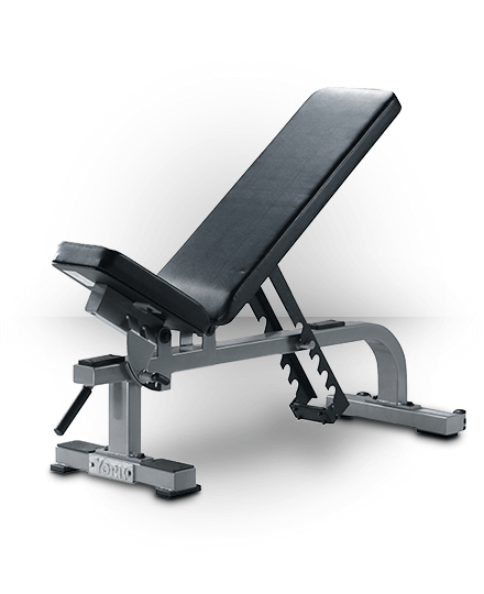 York Barbell Flat-To-Incline Bench Silver