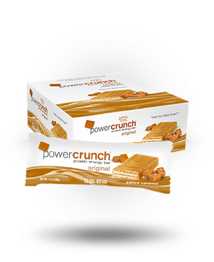 Power Crunch Original Protein Energy Bar Salted Caramel 12 x 1.4 oz Bars