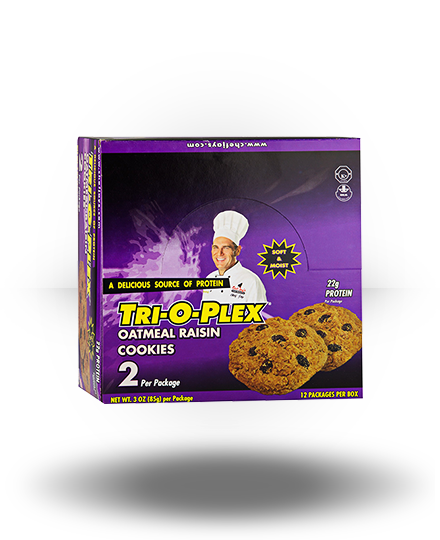 Chef Jay's Tri-O-Plex Cookies Oatmeal Raisin 12 ea