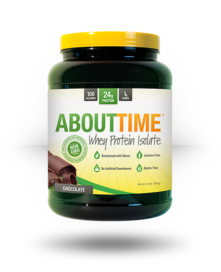 About Time Whey Protein Isolate Chocolate, 2 lb