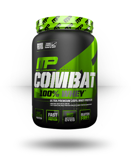 MusclePharm Combat 100% Whey Chocolate Milk 2 lb