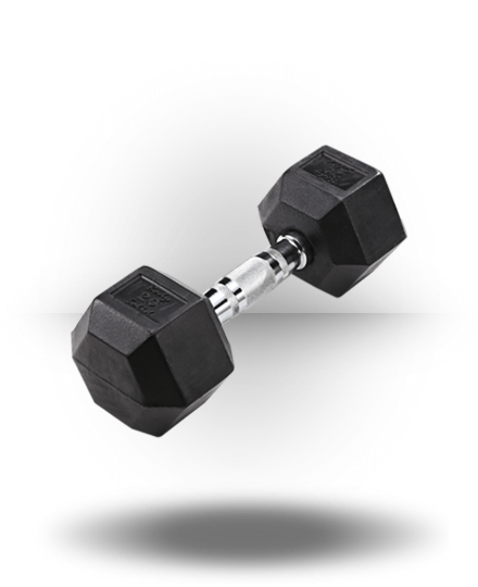 Body-Solid Rubber Coated Hex Dumbbell 20 lb