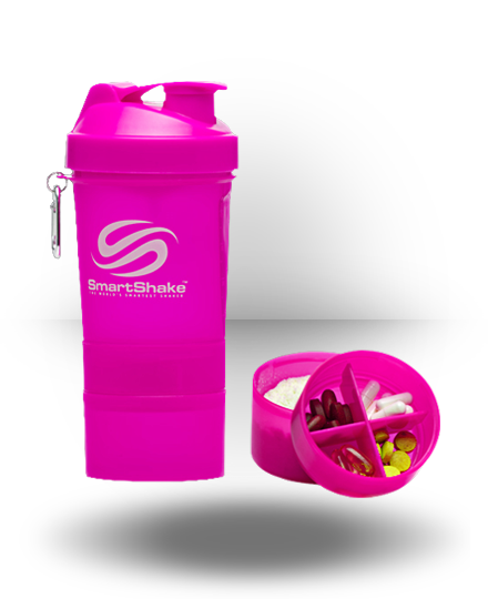 Smart Shake Shaker Cup Neon Pink 20 oz