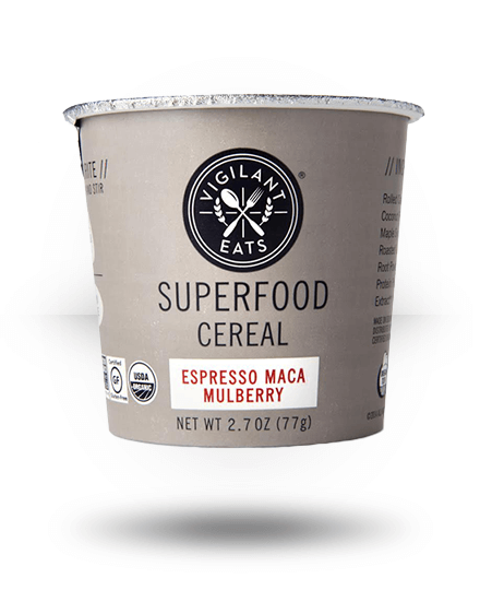 Vigilant Eats SUPERFOOD Espresso Maca Mulberry 12 Pack