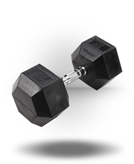 Body-Solid Rubber Coated Hex Dumbbell 60 lb