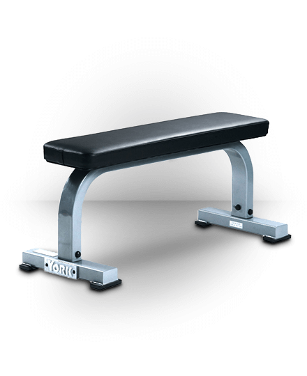 York Barbell Flat Bench Silver