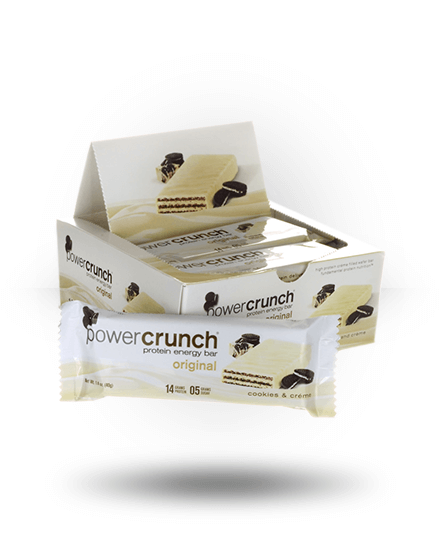 Power Crunch Original Protein Energy Bar Cookies & Creme 12 x 1.4 oz Bars