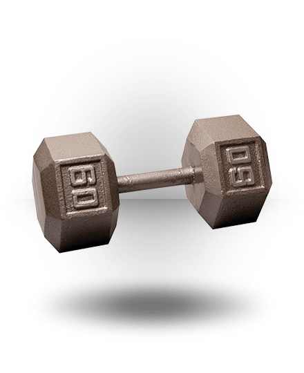 Body-Solid Hex Dumbbell 60 lb