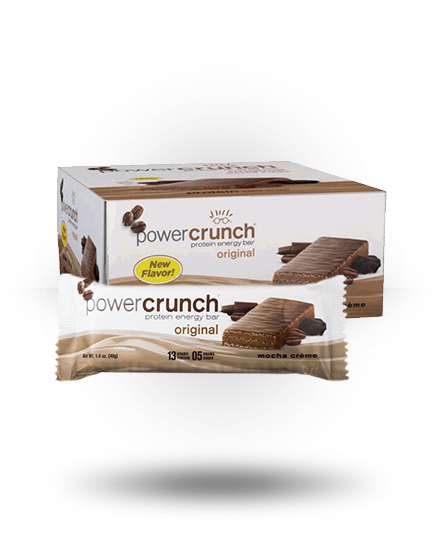 Power Crunch Original Protein Energy Bar Mocha Creme 12 x 1.4 oz Bars
