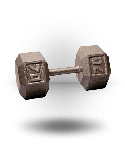 Body-Solid Hex Dumbbell 70 lb