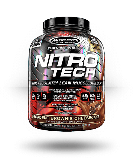 MuscleTech Nitro-Tech Decadent Brownie Cheesecake 41 Servings