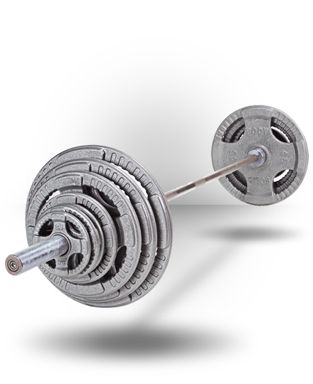 Body-Solid Steel Grip Olympic Set (plates only), 355 lb