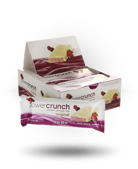Power Crunch Original Protein Energy Bar Wild Berry Creme 12 x 1.4 oz Bars
