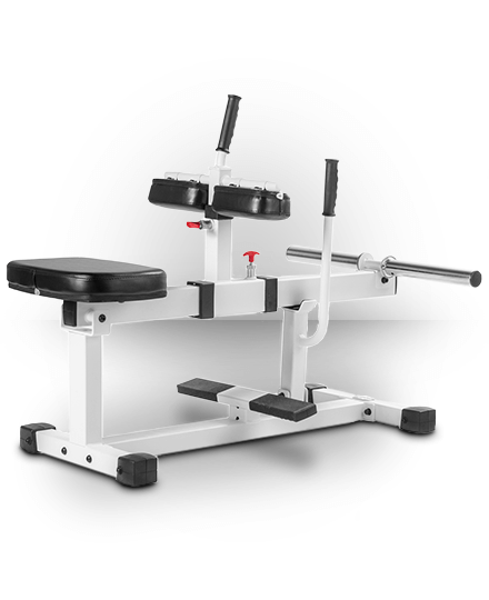 XMark Fitness XM-7613-WHITE XMark Seated Calf Raise Machine