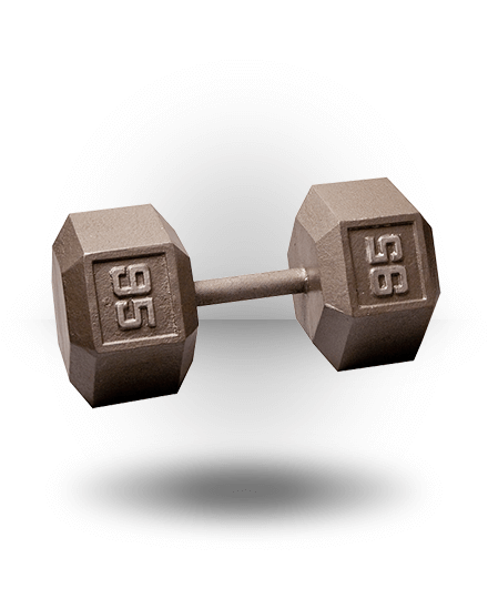 Body-Solid Hex Dumbbell 95 lb