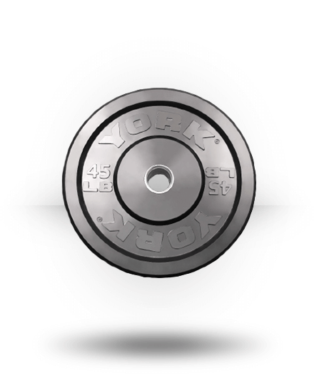 York Barbell Solid Rubber Training Bumper Plate (lb) 45 lb