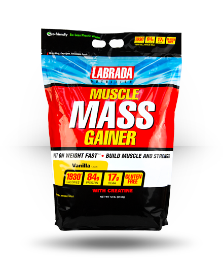Labrada Nutrition Muscle Mass Gainer Vanilla 12 lb
