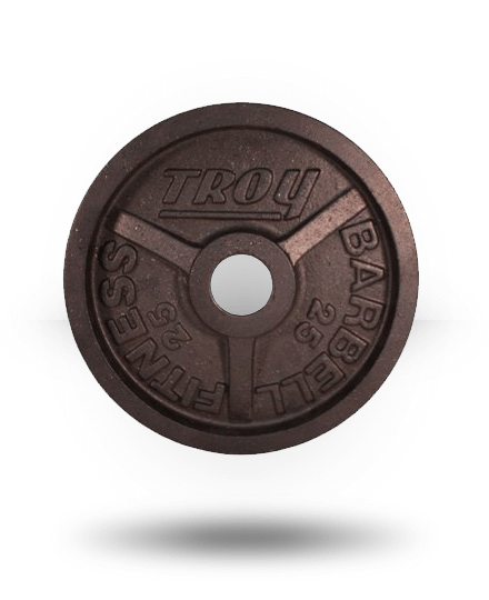 Troy Barbell Fully Machined Black Wide-Flanged Olympic Plate 25 lb