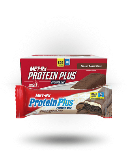 MET-Rx Protein Plus Creamy Cookie Crisp, 9 Bars