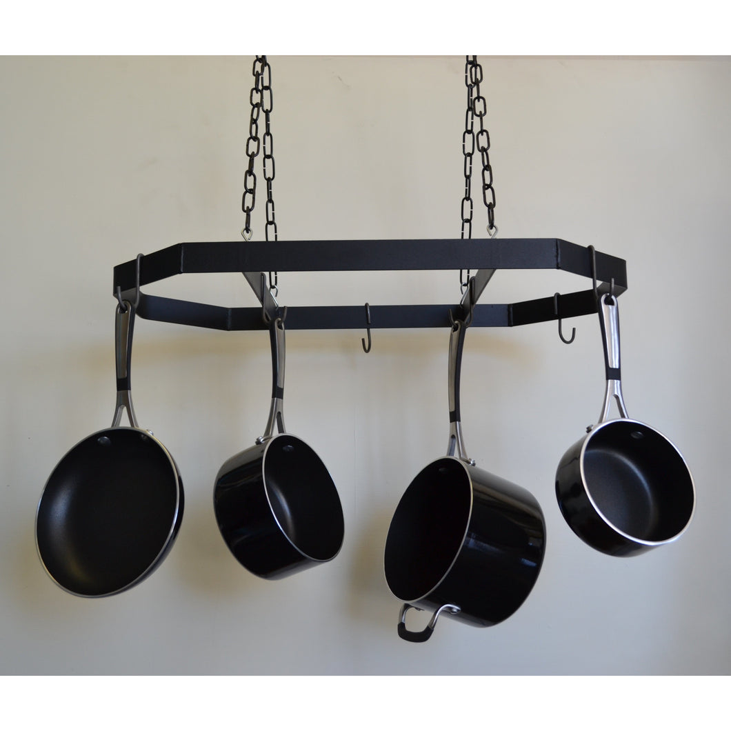 Steele Canyon Hanging Pot and Pan Rack Black Chain 325B