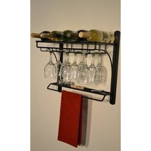 Steel Canyon Wall Mount Wine Bar Rack 4165