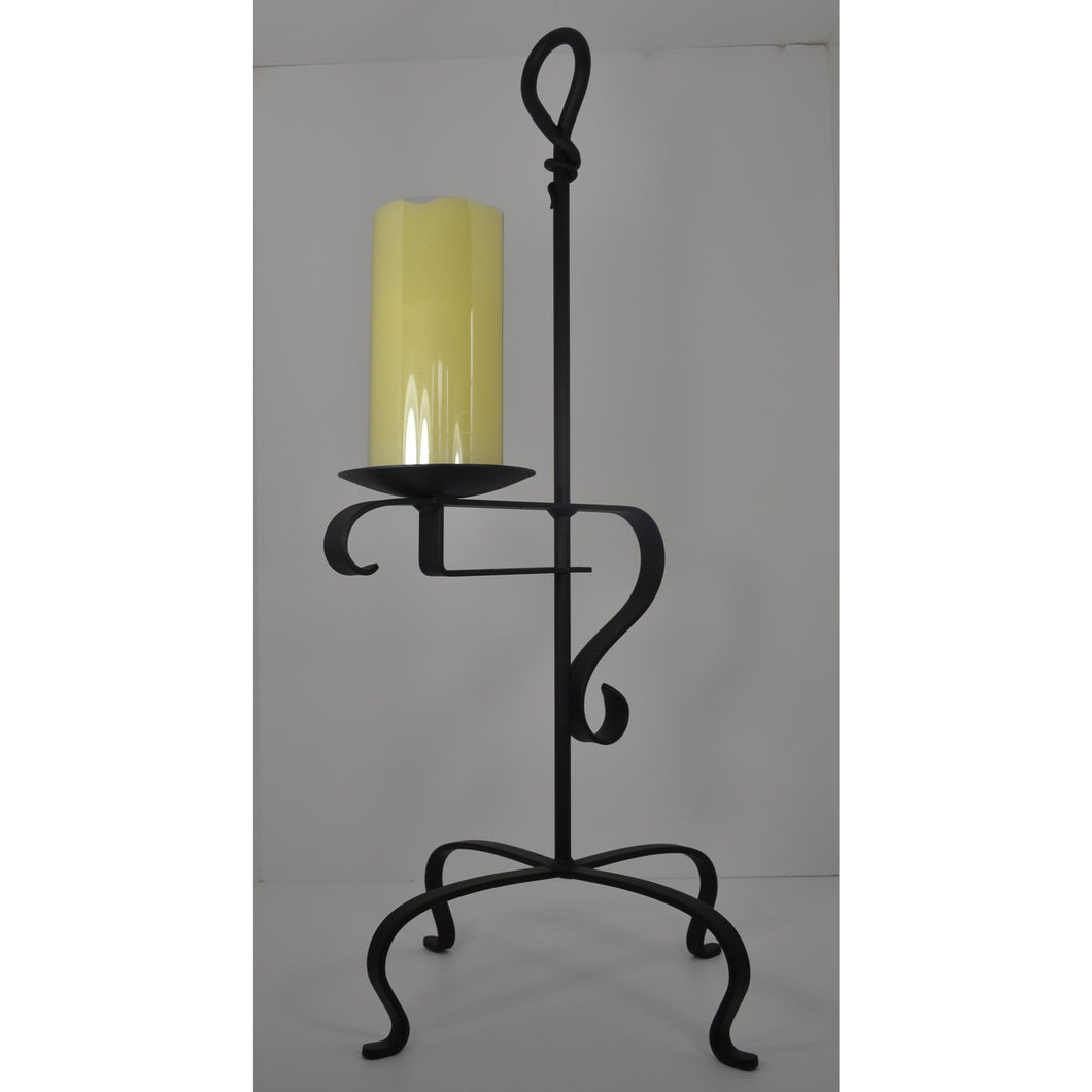 Signature Hand-Forged Knot Pillar Candle Holder Stand 4017