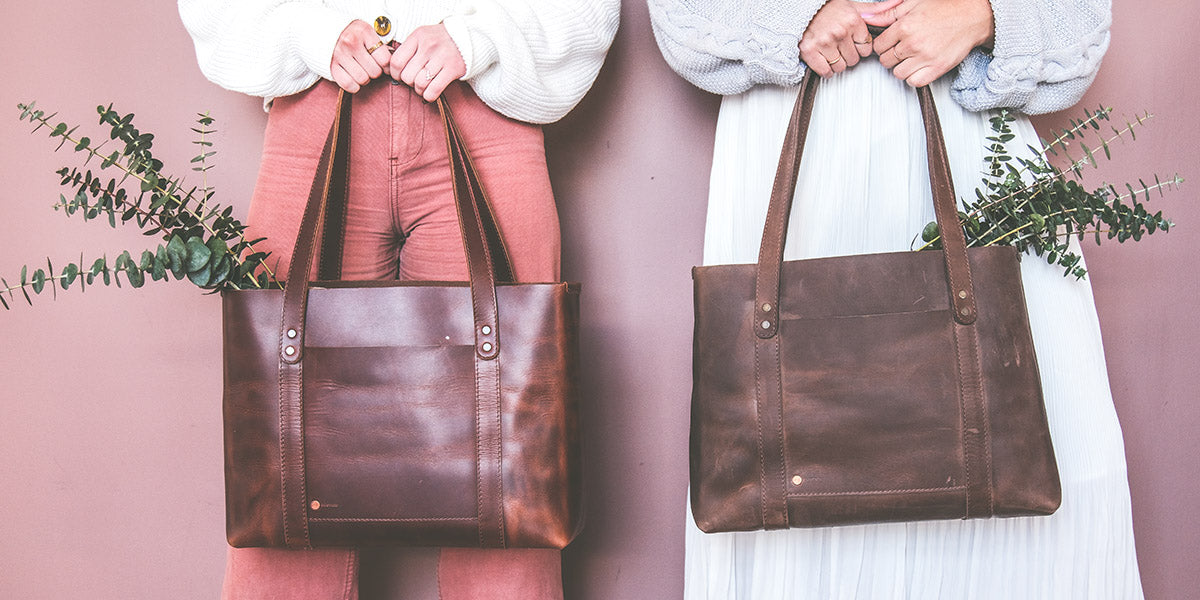 Leather tote women bags